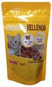 Comida gato snack bocaditos rellenos de malta