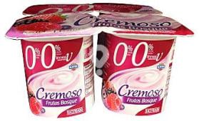 Yogur desnatado cremoso frutas del bosque