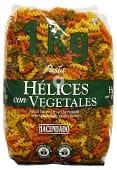 Hélices con vegetales Hacendado