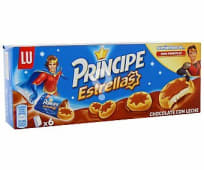 Galletas estrellas de chocolate con leche