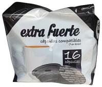 Café cápsula (compatible cafetera dolce gusto*(marca de grupo societe des produits nestle, S.A. no relacionada con cocatech, s.l.)) extrafuerte