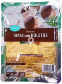 Pasta fresca medialunas de setas con boletus