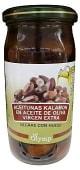 Aceituna negra kalamon en aceite oliva virgen extra