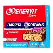 Barritas proteinas coco-chocolate para deportistas