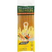 Espaguetis ecológicos de trigo integral