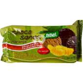 Choco sanas naranja galletas bañadas con chocolate negro sin azúcares