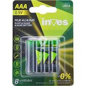 Pila alcalina AAA(LR03) 1,5 voltios 0% mercurio y cadmio blister 8 unidades