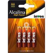 Pila super alcalina AAA(LR03) 1,5 voltios blister 4 unidades
