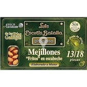 Mejillones fritos en escabeche de las rías gallegas 13-18 piezas
