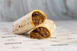 Burrito de ternera con salsa  teriyaki