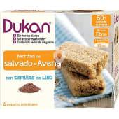 Barritas de salvado de avena con semillas de lino 6 paquetes individuales envase 150 g