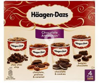Tarrinas de helado sabores chocolate