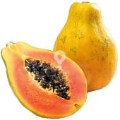 Papaya selección pieza peso aproximado
