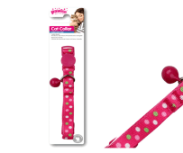 Pink Spotted Cat Collar