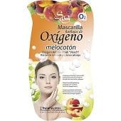 Mascarilla facial burbujas de Oxígeno con extracto de Melocotón y Papaya limpieza profunda y luminosidad
