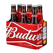 Cerveza Budweiser Six Pack Botella 343ml