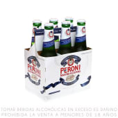 Cerveza Peroni Six Pack Botella 330ml
