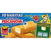 Varitas de merluza rebozadas con queso estuche 300 g