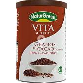 granos de cacao troceados ecológicos