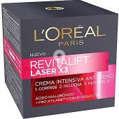 Laser X3 Crema antiarrugas intensiva anti-edad con ácido Hialurónico para todo tipo de piel