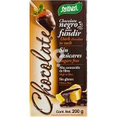 Chocolate negro para fundir sin azúcares