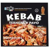 Carne para kebab de ternera y pavo