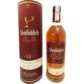 Glenfiddich Single Malt Scotch Whisky 15 Yrs Old 1Ltr