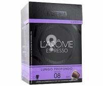 Café Largo Profundo L'Arôme Espresso Cápsulas - Intensidad 8 - 100% Arábica