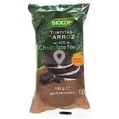 Tortitas de arroz con chocolate negro ecológicas