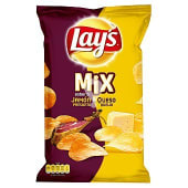 Patatas fritas mix jamón y queso