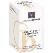 Selenio Zinc y Vitaminas fórmula antioxidante para el cuidado de la piel