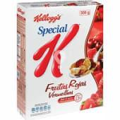 Cereales con frutas rojas