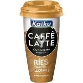 con crema macchiato café arábica espresso con leche fresca Caffè Latte