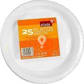 Plato blanco de plástico 22 cm