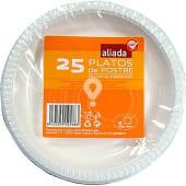 Plato blanco de plástico de postre 16,5 cm