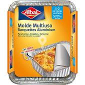 Molde de aluminio igloo con tapa 500 g envase 5 unidades