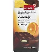 Chocolate con leche relleno sabor naranja