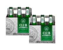 2 Six Pack Club Platino Botella - 12 Unidades
