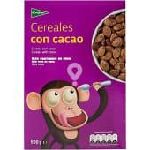 Cereales de desayuno de trigo tostado y chocolateado con 8 vitaminas y hierro