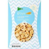 Cereales de desayunos en copos tostados de arroz y trigo integral