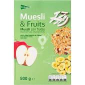 Muesli tradicional con frutas