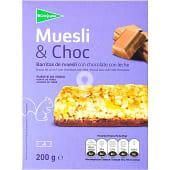 Barritas de muesli con chocolate