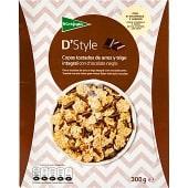 Cereales de desayuno en copos de arroz y trigo con chocolate