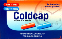 Coldcap Day and Night time capsules 24s