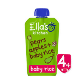 Ella'S Kitchen Org Pears Apples+Baby Rice 120G