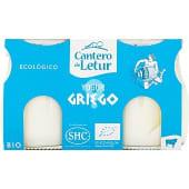 Yogur griego natural de leche de vaca sin azúcar añadido