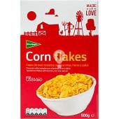 Cereales de desayuno en copos de maíz tostados con 8 vitaminas y hierro