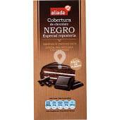 Cobertura de chocolate negro especial repostería fácil de fundir