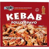 Carne para kebab de pollo y pavo