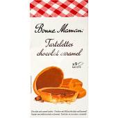 Tartelettes rellenas de chocolate y caramelo